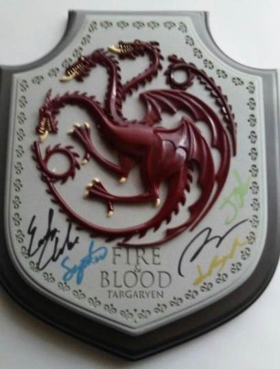 Game of Thrones Autographed Wall Plaque