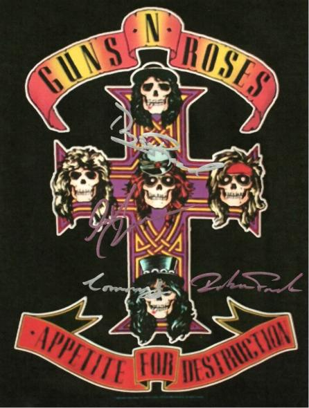 Guns N' Roses Autographed Signed Poster
