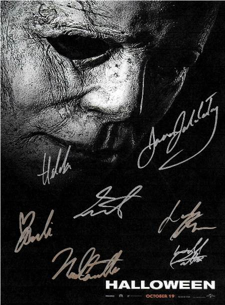 Halloween Hand Signed Movie Poster