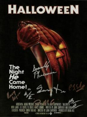 Halloween Autographed Movie Poster
