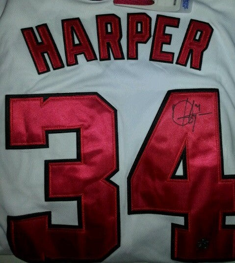 Bryce Harper Washington Nationals Autographed Jersey
