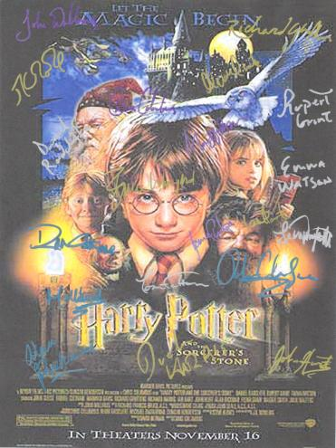 Harry Potter  Autographed  Movie Poster