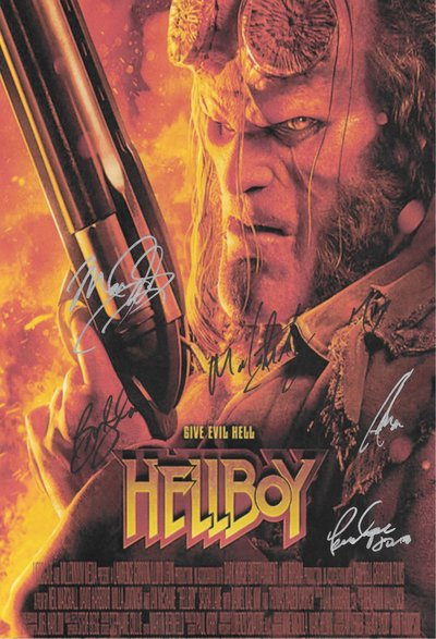 HellBoy Signed Movie Poster