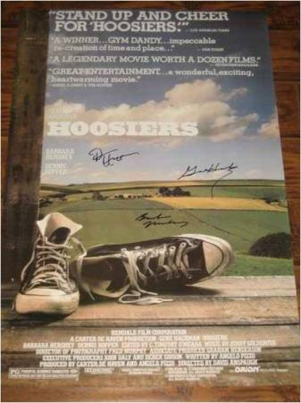 Hoosiers Hand Signed Movie Poster