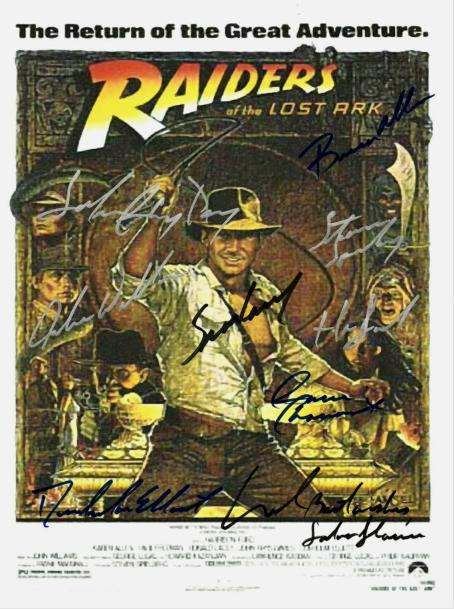 Indiana Jones Hand Signed Poster