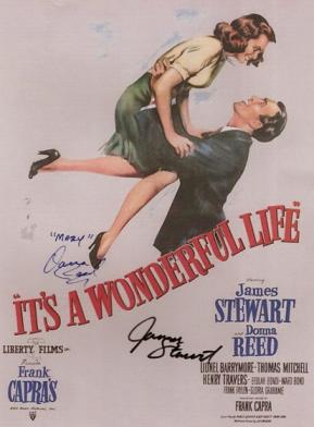 It's a Wonderful Life Autographed Movie Poster