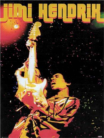 Jimi Hendrix Autographed Signed Poster
