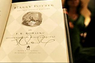J.K. Rowling Autographed Book