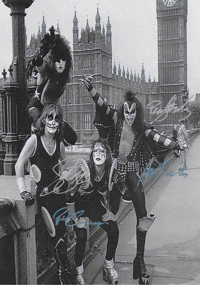 KISS Hand Signed Poster