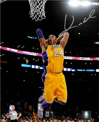 Kobe Bryant Autographed Poster