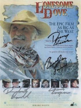 Lonesome Dove Hand Signed Poster