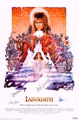 Labyrinth Autographed Movie Poster
