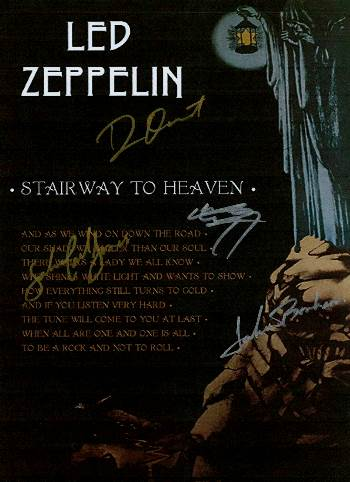 Led Zeppelin Autographed Poster