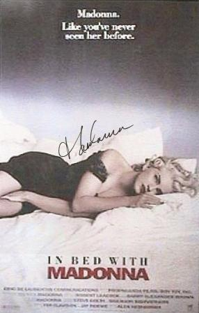 Madonna Autographed Poster