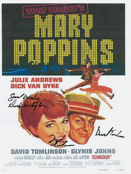 Mary Poppins Autographed Movie Poster