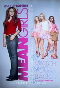 Mean Girls Autographed Movie Poster