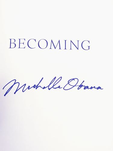 Michelle Obama Autographed Signed Becoming Book