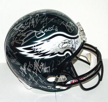 Philadelphia Eagles Autographed Team Helmet