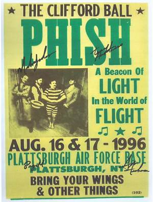The Phish Autographed Poster