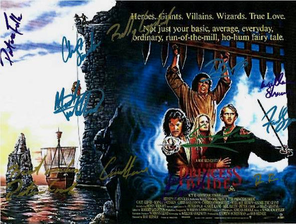 The Princess Bride Hand Signed Poster