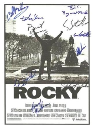 Rocky Autographed Movie Poster