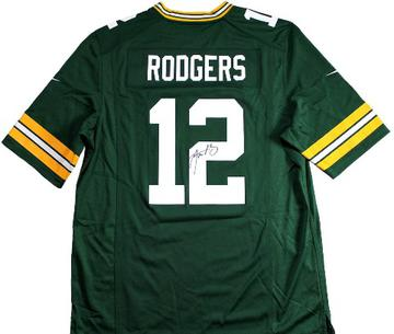 Aaron Rodgers Autographed Green Bay Packers Jersey