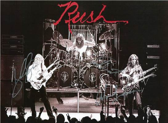 The Rush Hand Signed Concert Poster