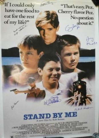 Stand By Me Autographed Movie Poster