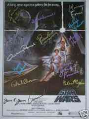 Star Wars Hand Signed Poster