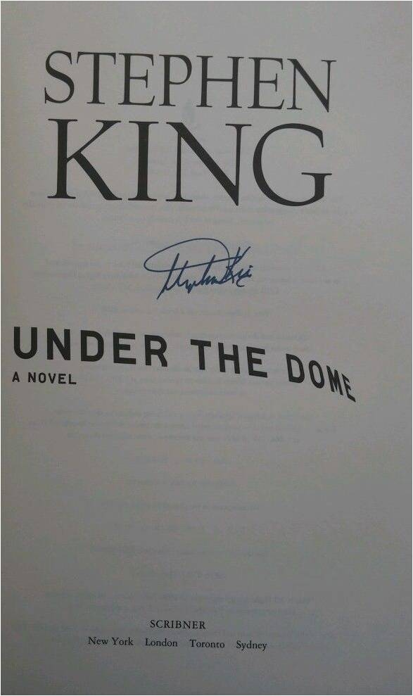 Stephen King Autographed Book