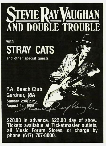Stevie Ray Vaughan Autographed Poster
