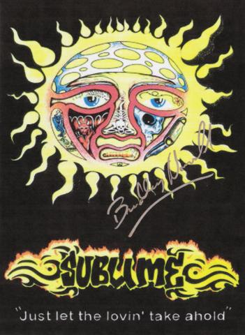 Sublime Bradley Nowell Autographed Poster