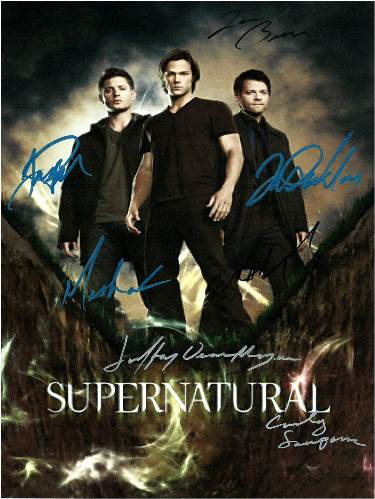 Supernatural Autographed Movie Poster