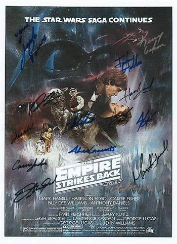 Star Wars Autographed Movie Poster