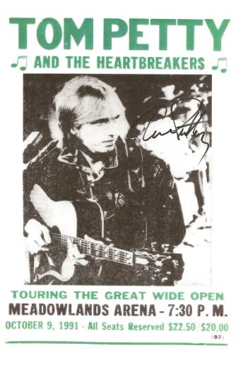 Tom Petty Autographed Poster