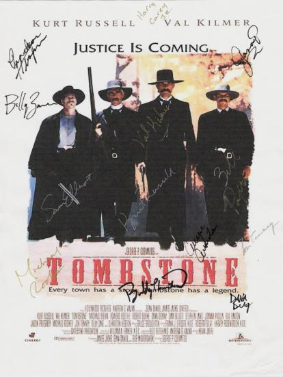 Tombstone Hand Signed Poster