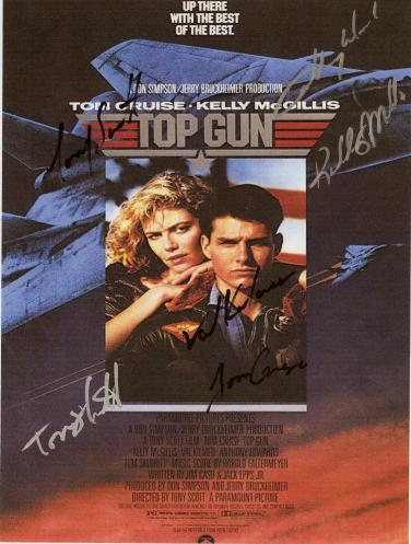 Top Gun Autographed Movie  Poster