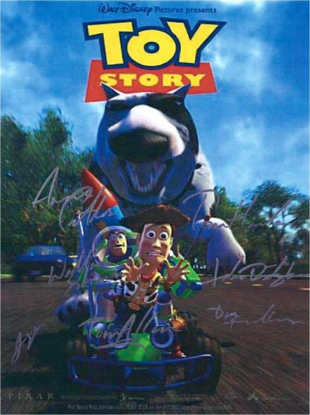 Toy Story Hand Signed Poster