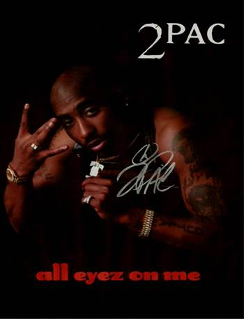 Tupac Autographed Poster