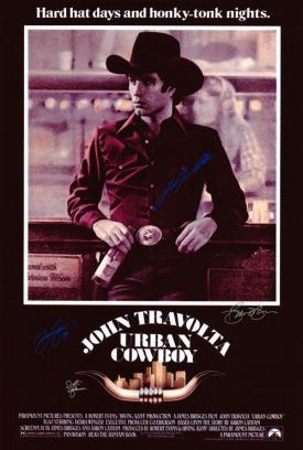 Urban Cowboy Hand Signed Movie Poster