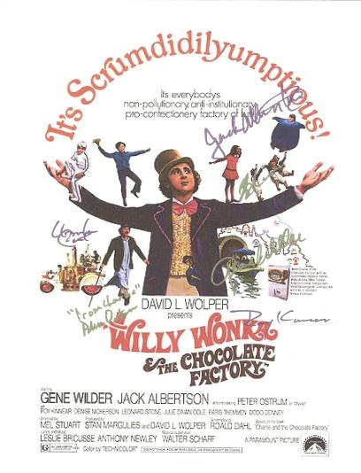 Willy Wonka Autographed Signed Poster