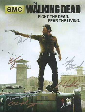 Walking Dead TV Autographed Poster