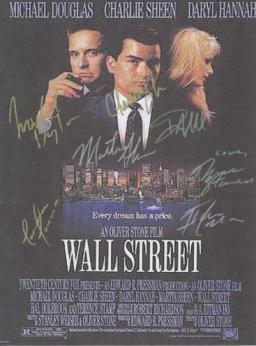 Wall Street signed movie poster