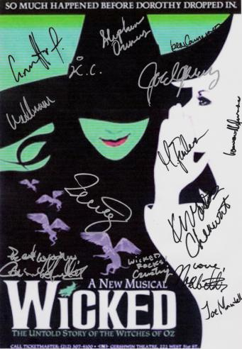 WICKED Autographed Broadway Poster