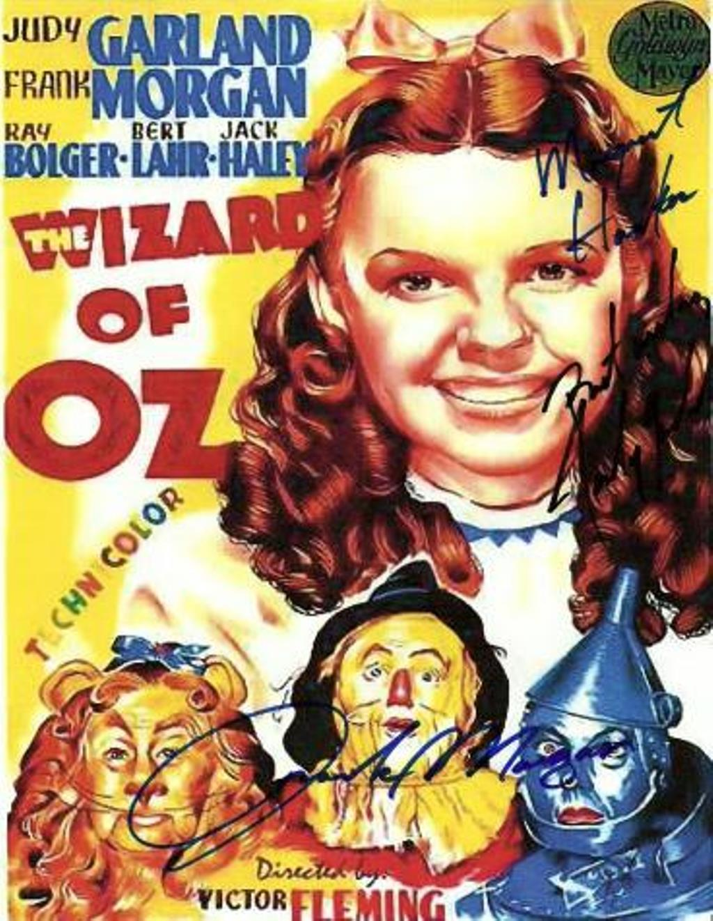 Wizard of Oz Autographed Movie Poster