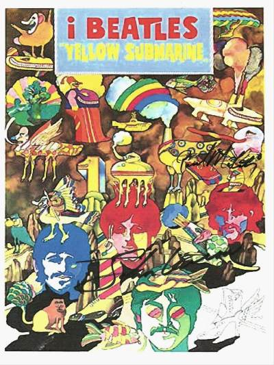 Yellow Submarine The Beatles Signed Movie Poster