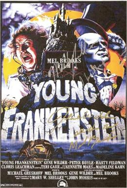 Young Frankenstein Hand Signed Poster