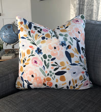 Load image into Gallery viewer, floral watercolor pillow