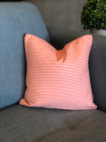 "14"" x 14"" Coral Scalloped Decorative Throw Pillow Cover"