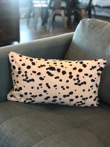 "12"" x 20"" Black and White Animal Print Decorative Throw Pillow Cover"
